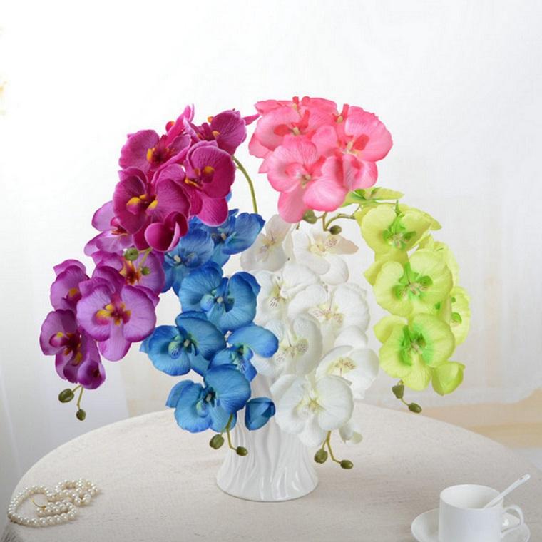 decorazioni di primavera vaso orchidee