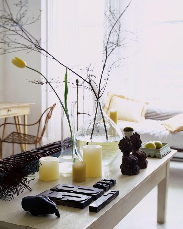 decorazioni feng shui ambiente elegante candele