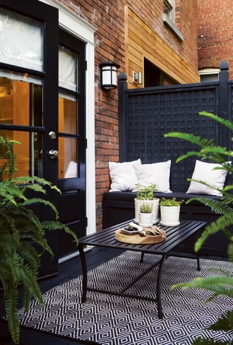 decorazioni floreali ideali balcone nero design