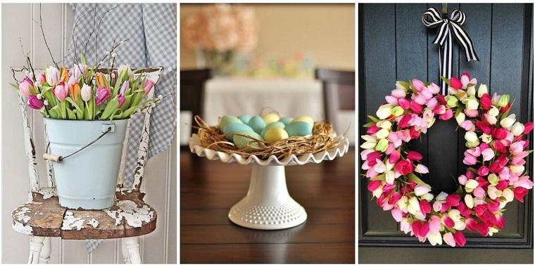 decorazioni floreali tema pasquale festone