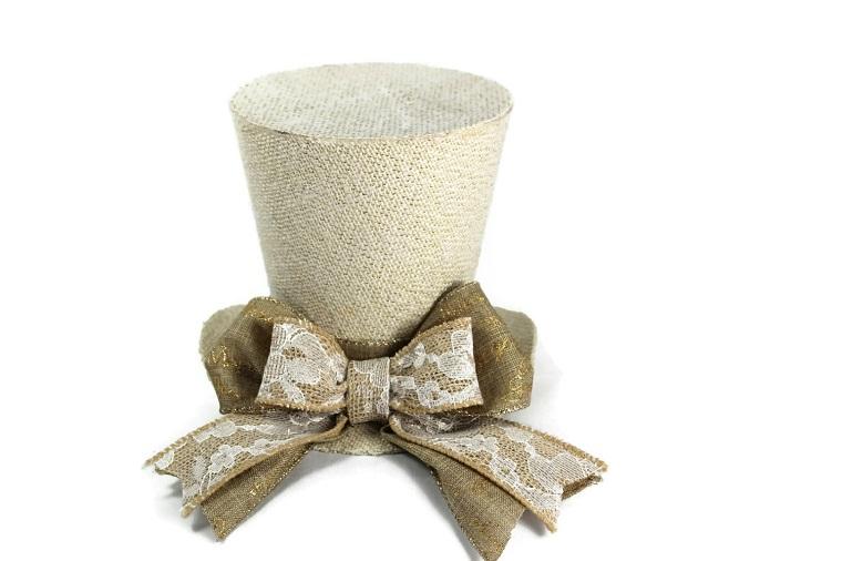 decorazioni natalizie shabby chic cappello cilindro