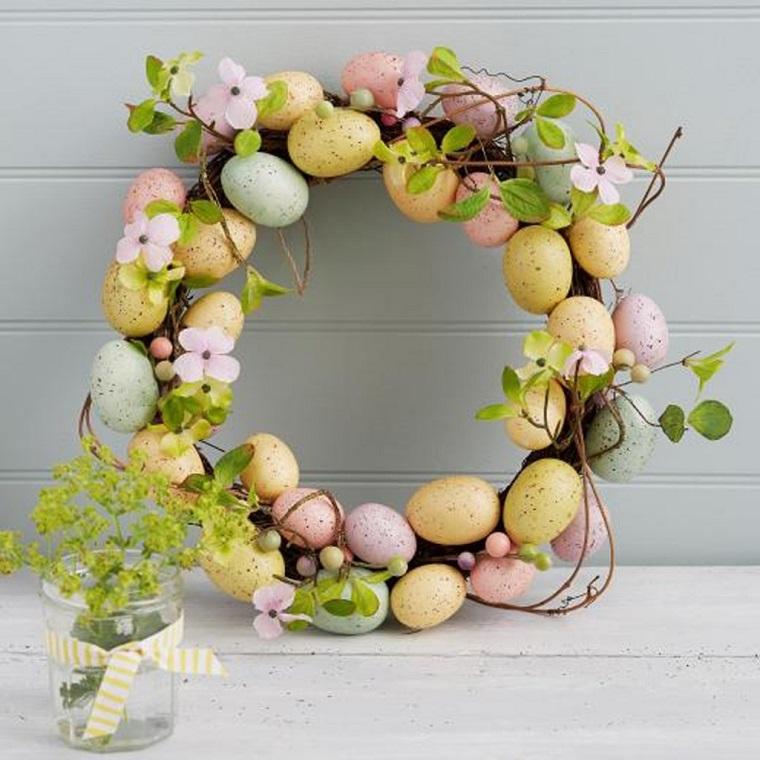 decorazioni pasquali fai da te festone uova