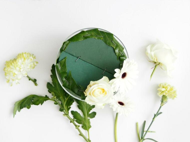 decorazioni pasquali fai da te mazzo di fiori con petali bianchi tutorial lavoretti di pasqua