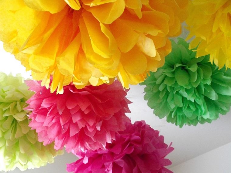 decorazioni primavera garofani colorati