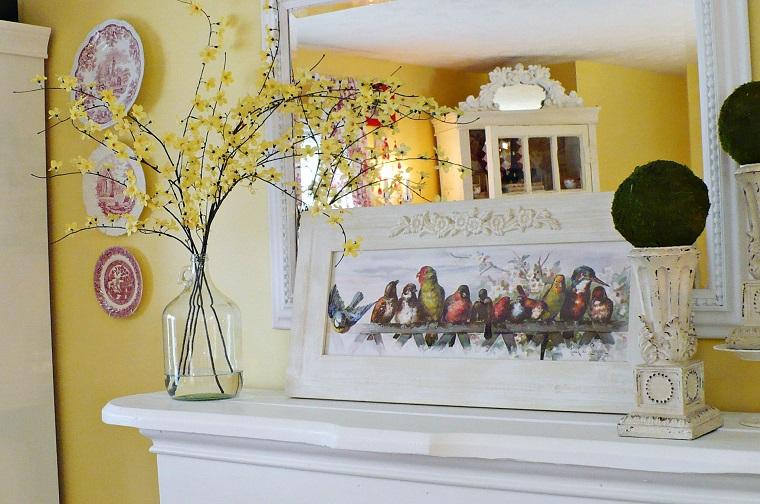 decorazioni primavera idea rami fiori