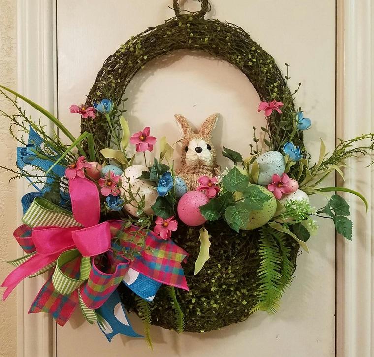 decorazioni primavera porta coniglietto