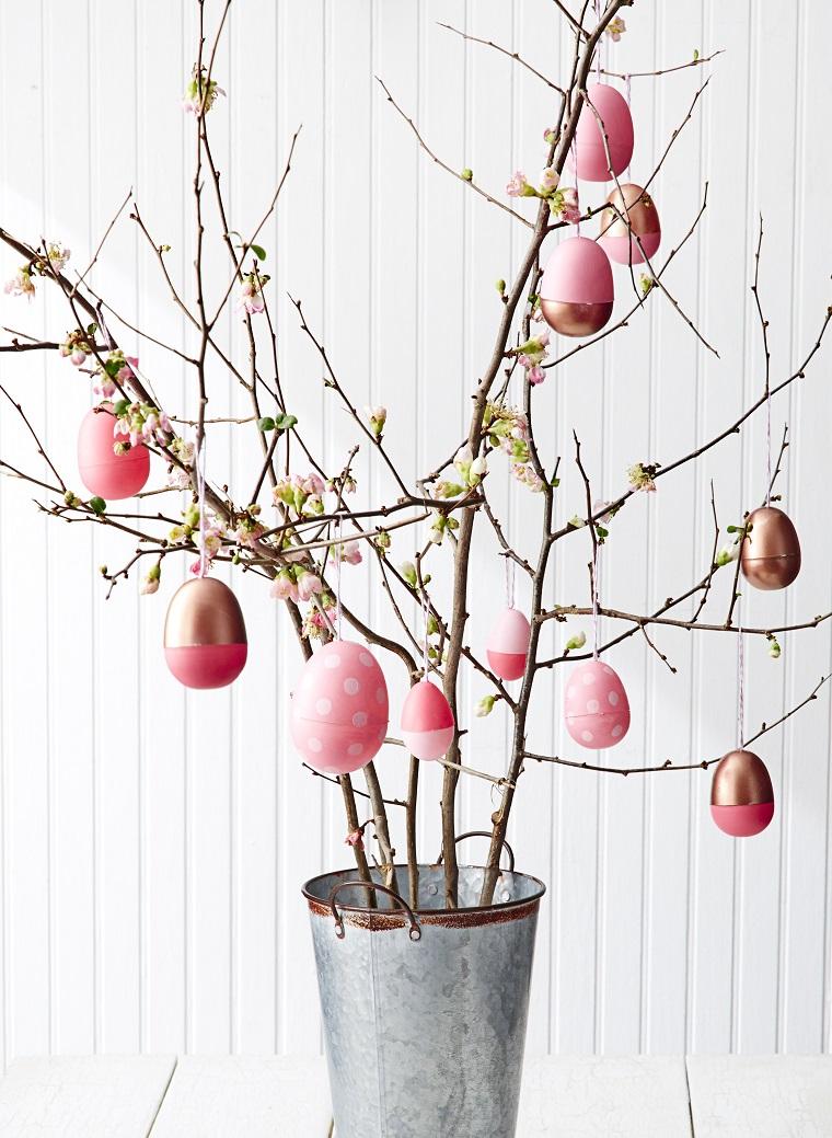 decorazioni primaverili albero pasqua