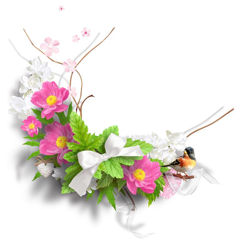 decorazioni primaverili idea fiori uccellino