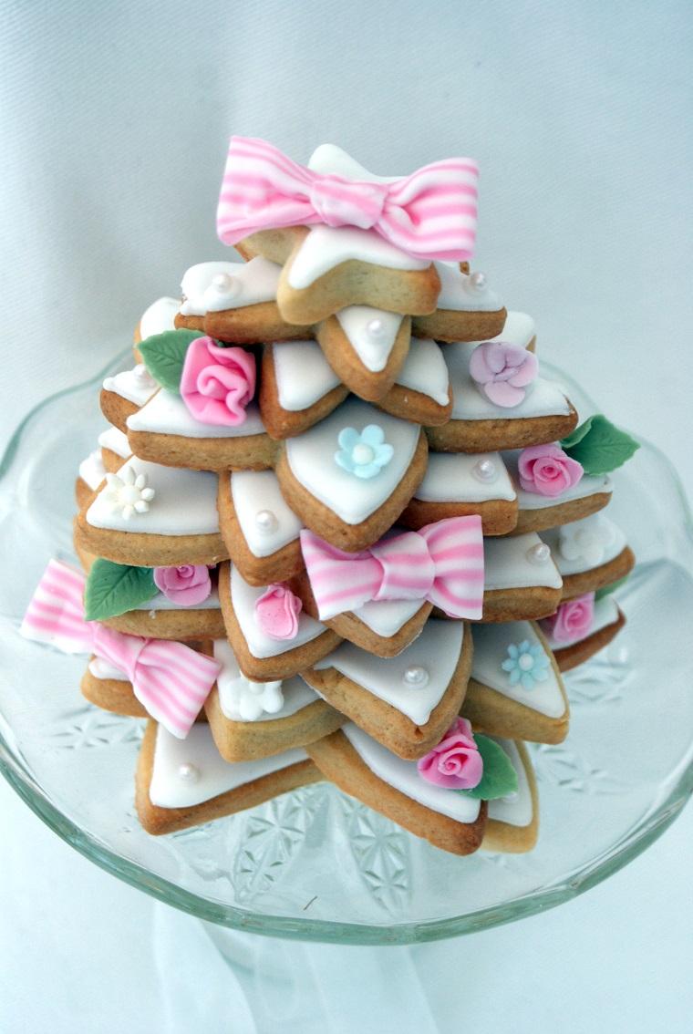 decorazioni shabby biscotti tema natalizio