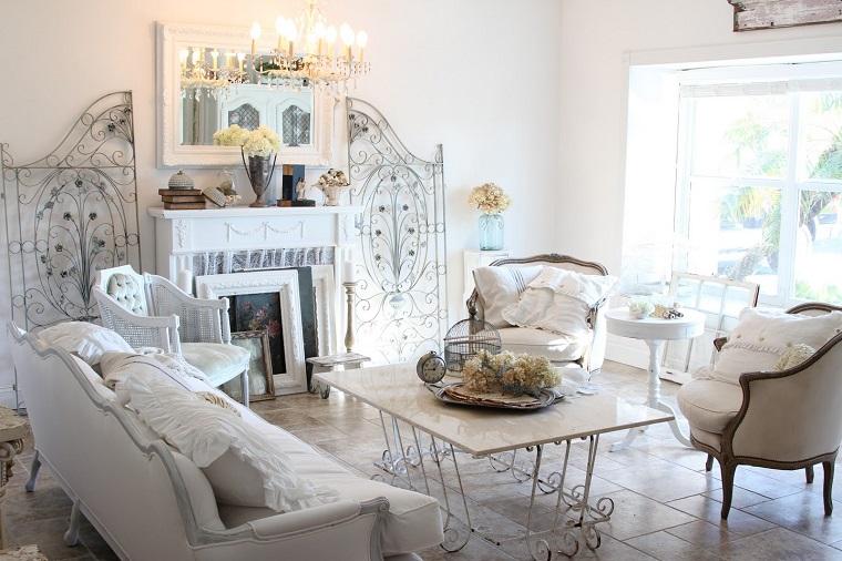 decorazioni shabby chic soggiorno veramente adorabile