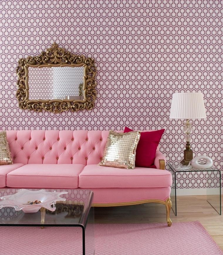 divani shabby chic proposta rosa