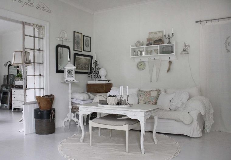 divani shabby salotto total white