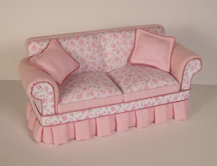 divani stile shabby chic toni rosa