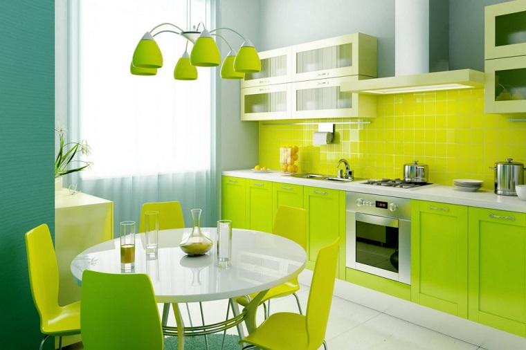 feng shui casa come arredare cucina verde