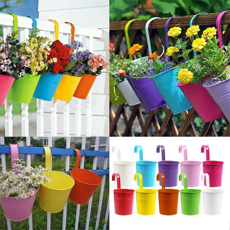 fiori da balcone vasi appendere colorati