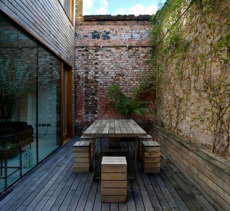 giardino design rustico tavolo pallet