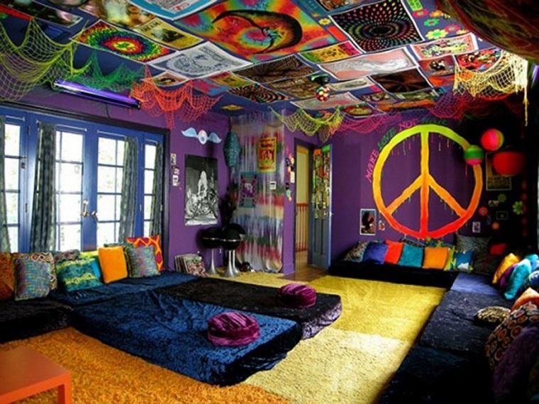 hippie style idea allestire camera letto