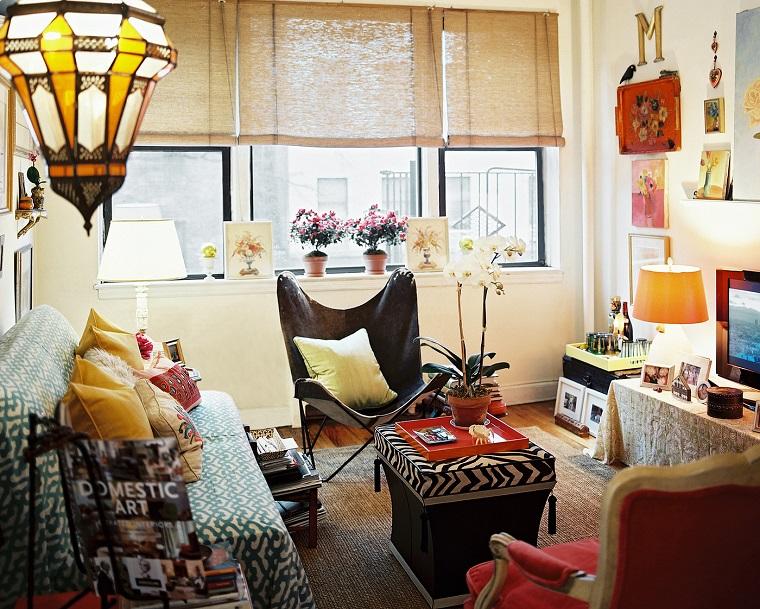 hippie style idea soggiorno dimensioni ridotte