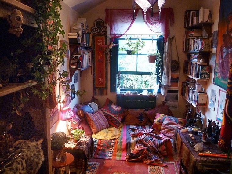 hippie style soluzione piccolo salotto