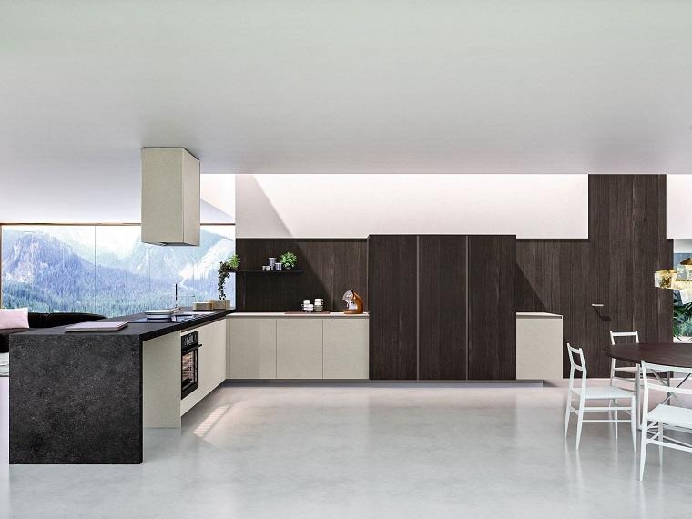 idea arredamento cucina spazio grandissimo design moderno stile