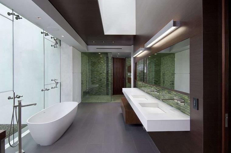 idea arredo stile moderno mobile bagno colore bianco