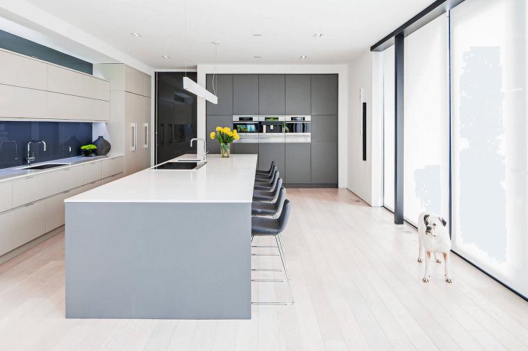 idea bianco stile minimal cucina design