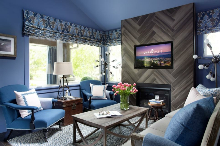idea mozzafiato soggiorno moderno fresco colorato