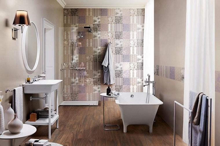 idea originale arredare decorare bagno stile shabby chic
