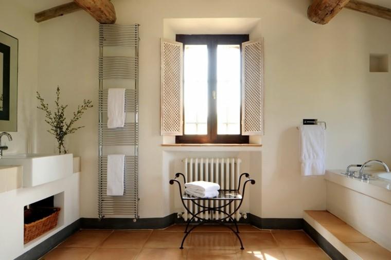 idea originale arredo bagno design rustico