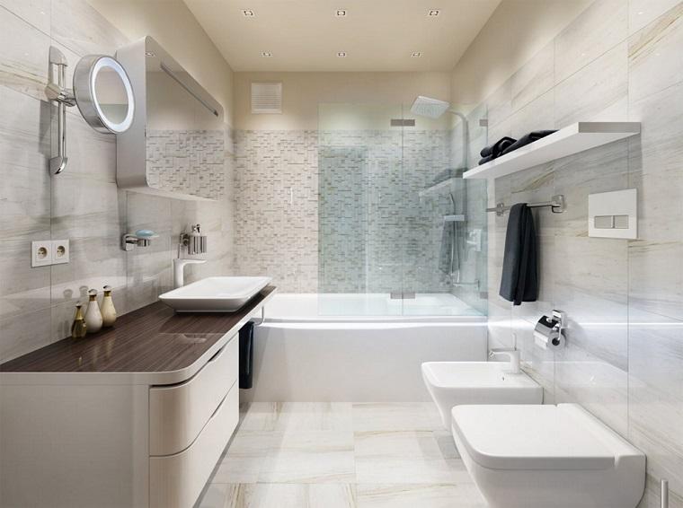 idea originale arredo bagno sanitari colore bianco