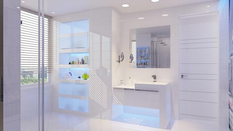 idea originale arredo bagno total white