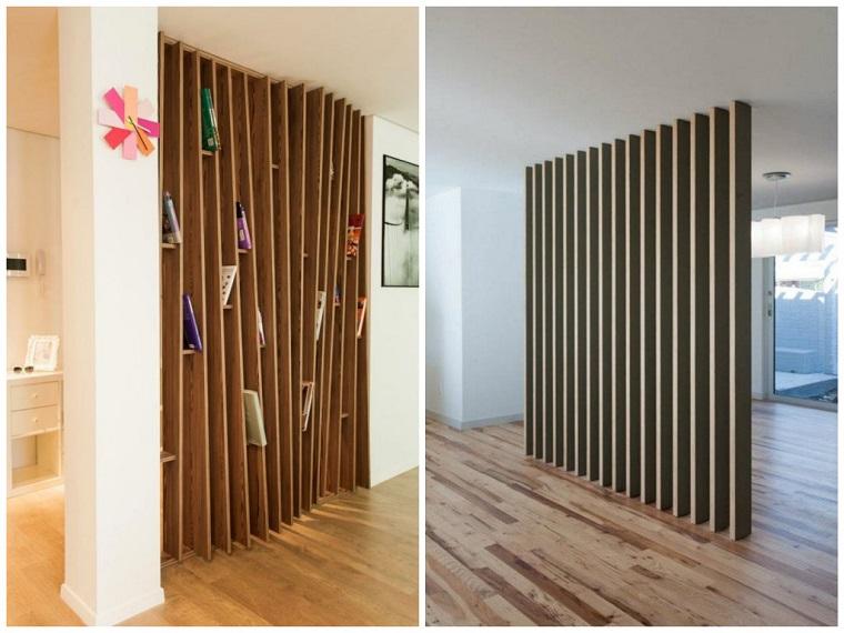 Parete divisoria in legno soluzione d 39 avanguardia per la - Pareti mobili divisorie per casa ...