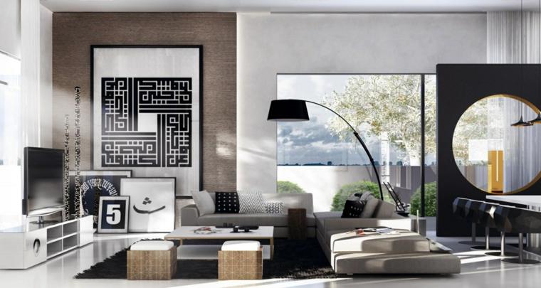 idea originale particolare soggiorno moderno