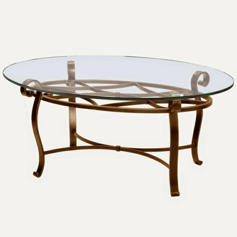 Tavoli in ferro battuto ecco 23 idee davvero originali - Tavolo ferro battuto e vetro ...