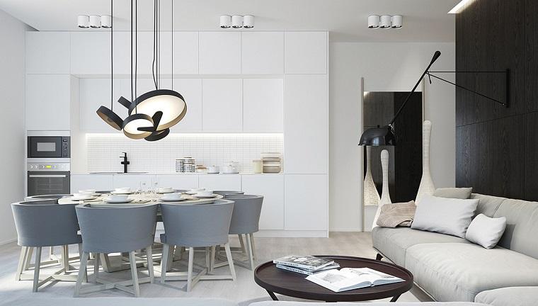 Cucina bianca e grigia un tocco di stile alla vostra zona for Arredamento particolare