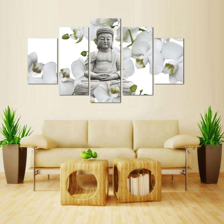 idea particolare arredare zona living feng shui piante sempreverdi