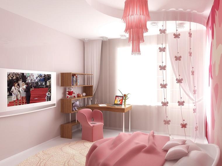 idea particolare decorazione cameretta ragazze lampadario