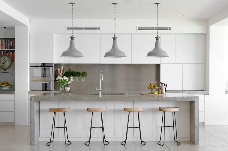 Cucina bianca e grigia un tocco di stile alla vostra zona giorno