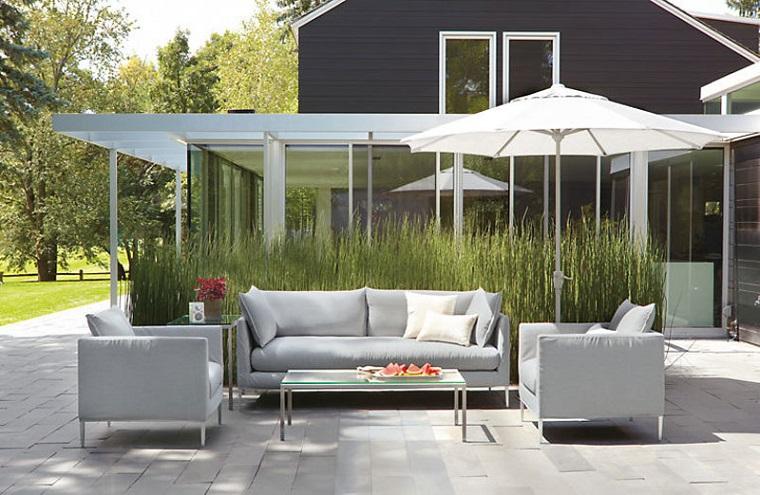 idee per giardino colore grigio design contemporaneo