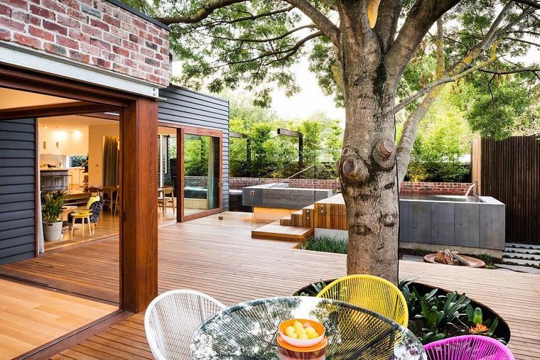 idee per giardino tavolo vetro