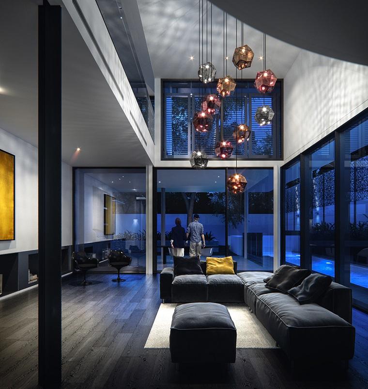 idee soggiorno design moderno lampadario stile