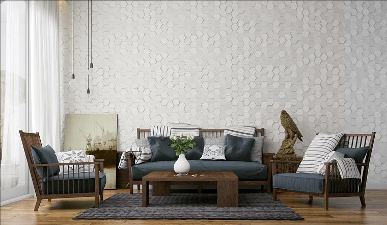 idee soggiorno set mobili legno