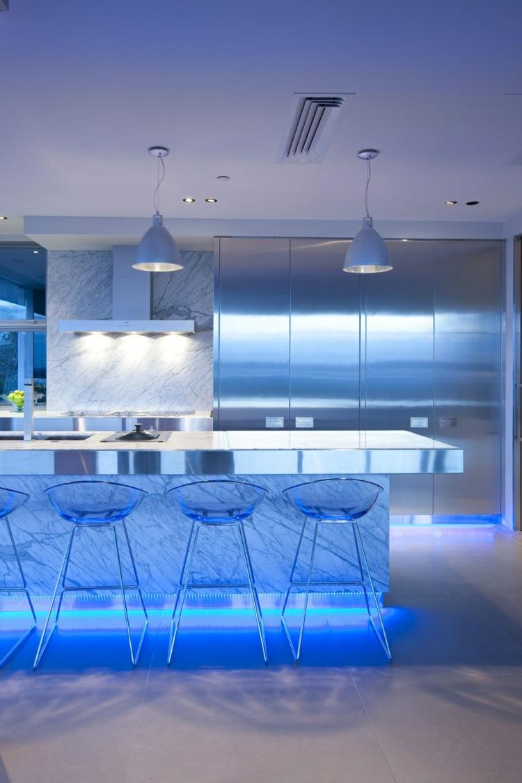 illuminazione cucina idea interessante moderna particolare