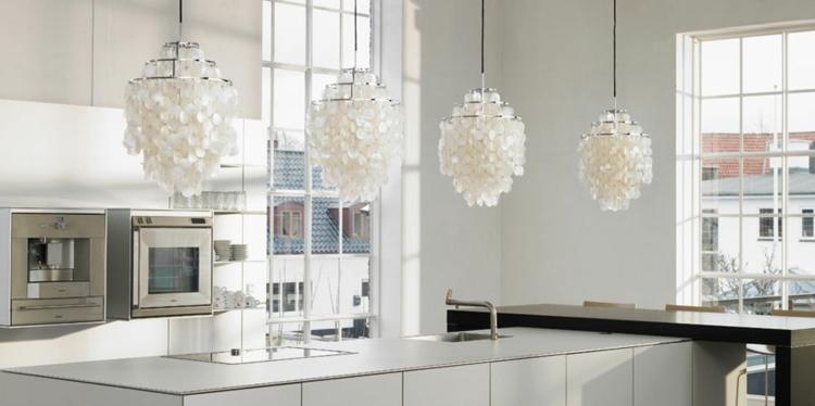 illuminazione cucina idea originale particolare interno