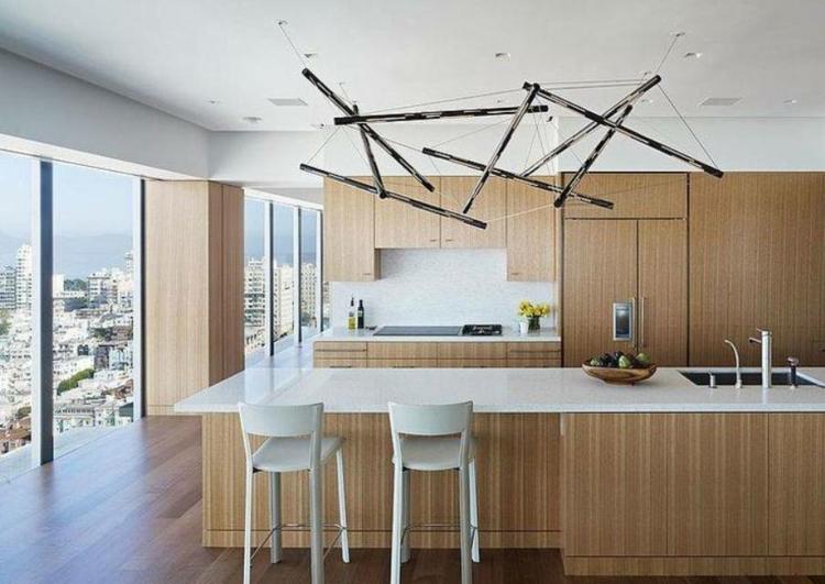 illuminazione cucina proposta particolare moderna