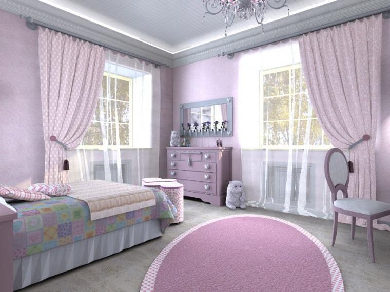 interior design elegante raffianato tonalita viola