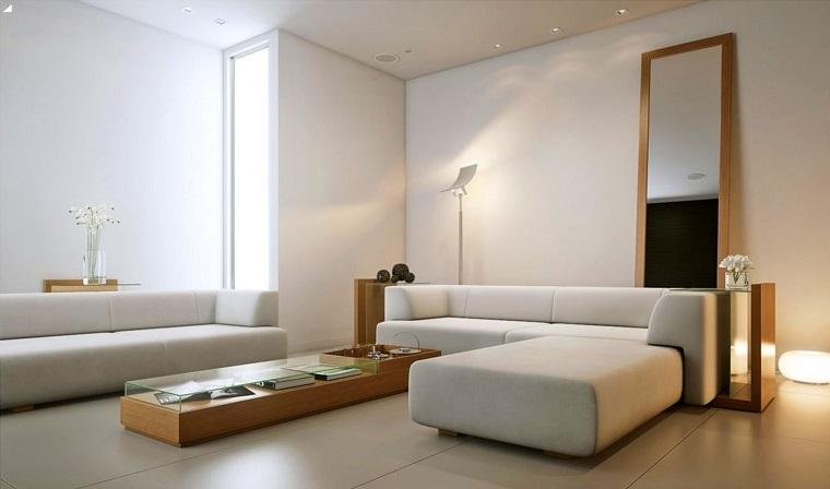 interior design minimalista soggiorno elegante divano