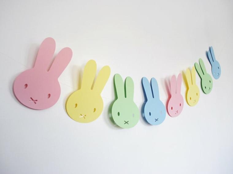 lavoretto fai da te bambini coniglietti colorati