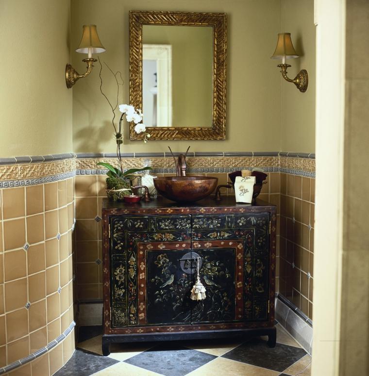 mobile bagno legno design rustico