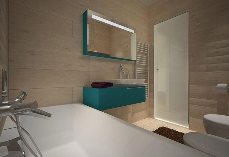 mobili bagno moderno colore verde